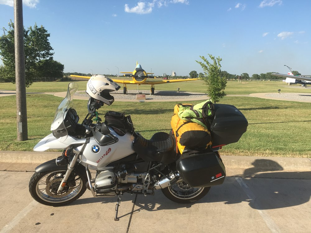 My 2000 BMW R1150GS at Vance AFB in Oklahoma