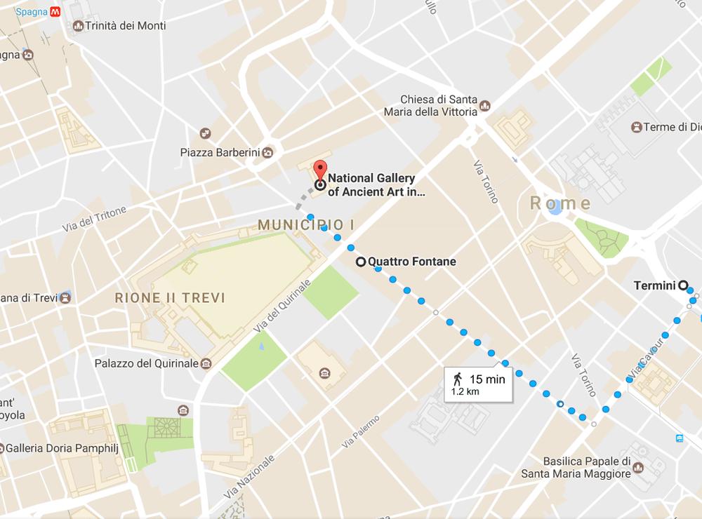 2. From Quattro Fontane to Palazzo Barberini
