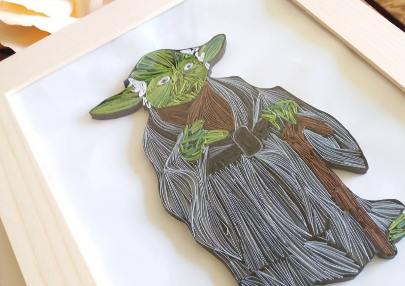 Custom Yoda Quilling Canvas - May the force be with you!