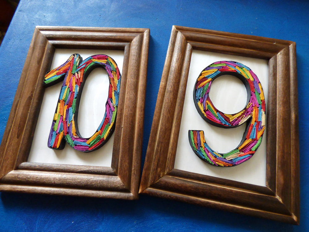 Quilled Wedding Numbers - Welcome your wedding guests with a funky table decor