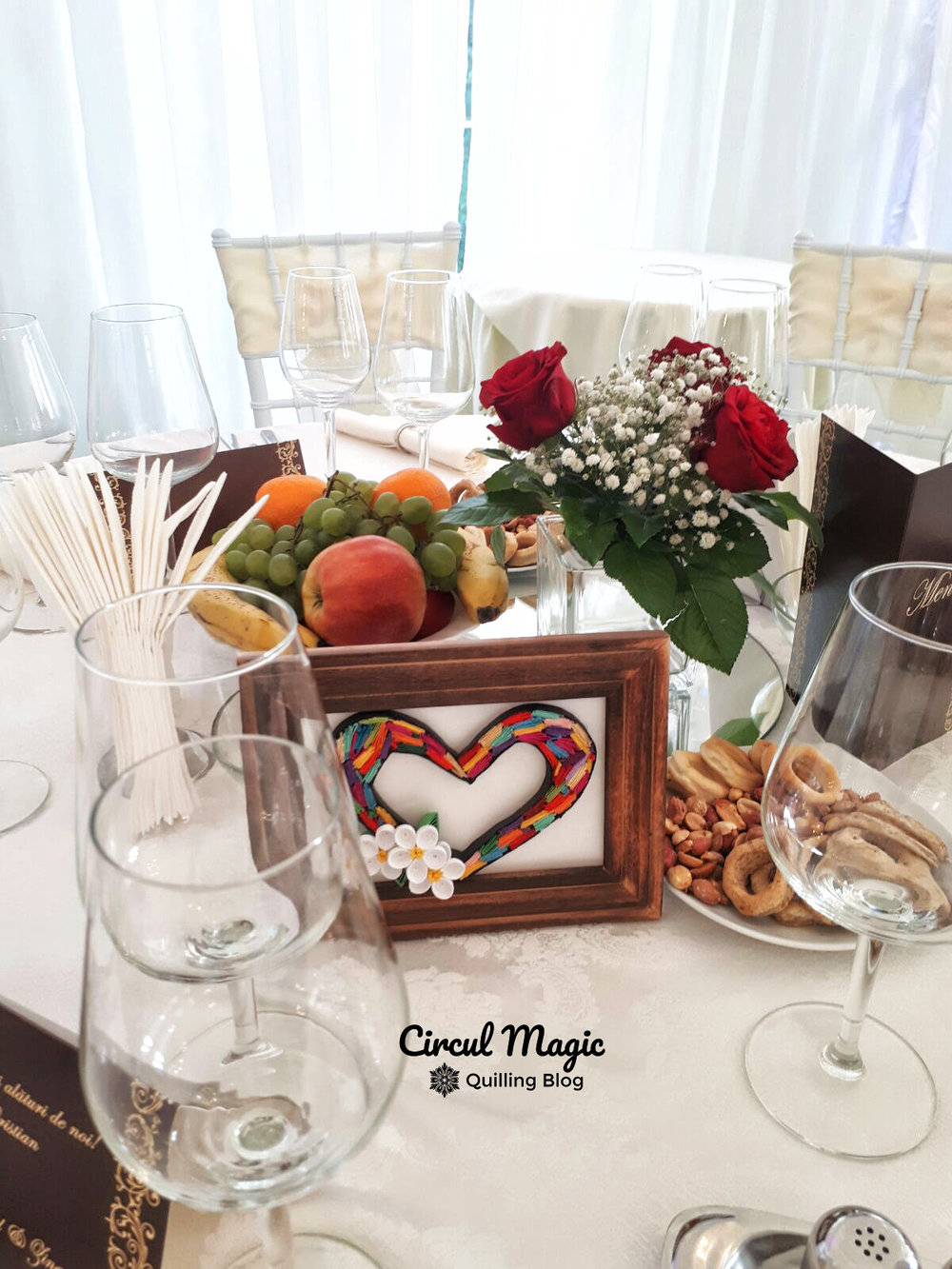 Quilling Handmade Paper Table Wedding Numbers - Circul Magic Blog