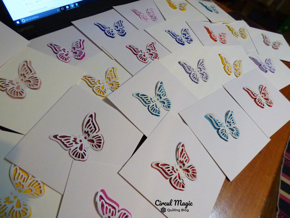 Thank You Cards: Paper Butterflies
