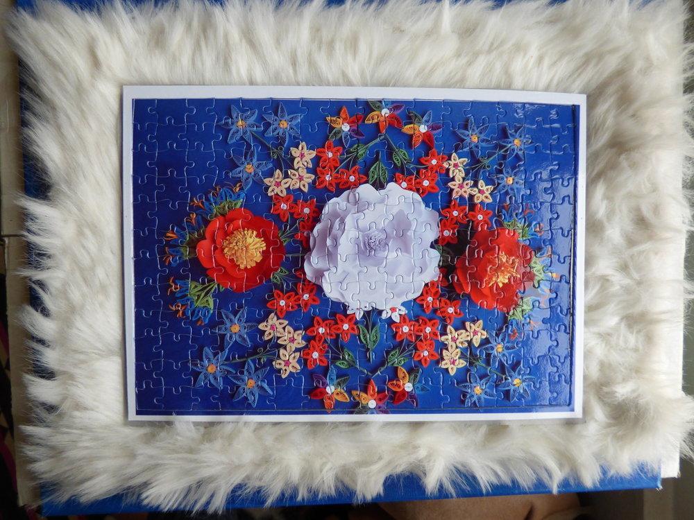Custom Puzzles, Quilling Floral Mandala