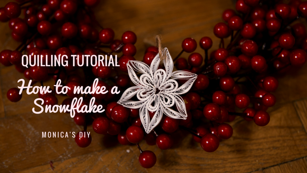 How to Make a Quilling Snowflake, DIY tutorial - See more at www.monicabadiu.com