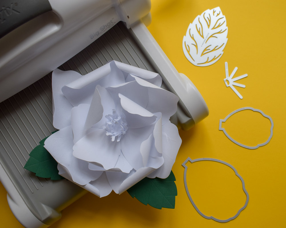 How To Make A Paper Flower With The New Sizzix Large Rose Die