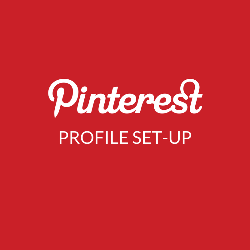 Pinterest Profile Set-up EXPERT Service