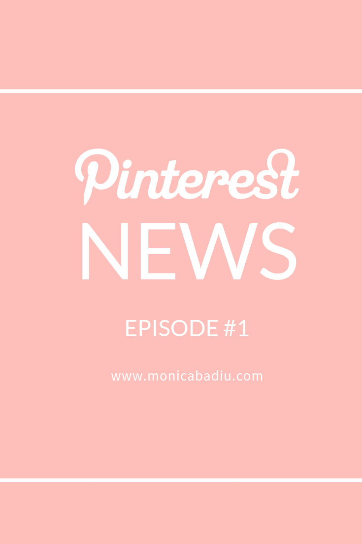 News about Pinterest on the blog - holiday season webinars at www.monicabadiu.com