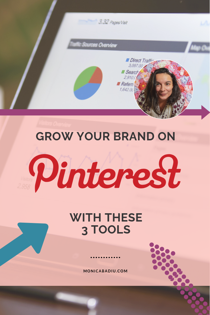 Grow your brand on Pinterest with these 3 tools - via monicabadiu.com