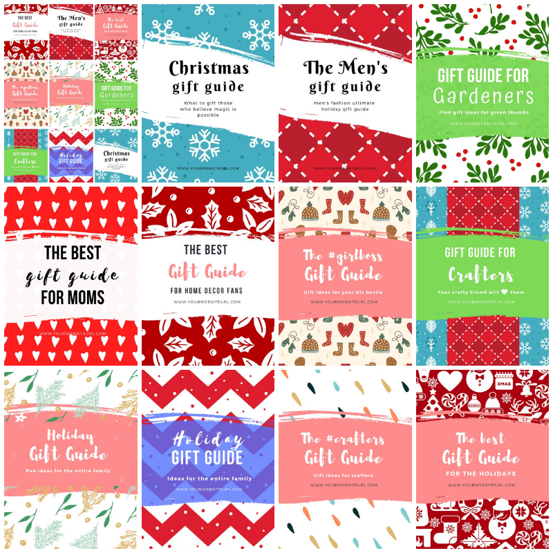 11 Gift Guide Pinterest Templates for Canva