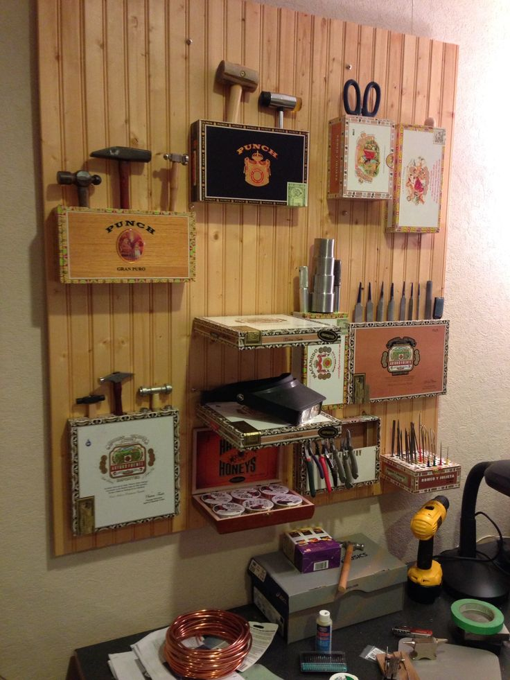 cigar boxes will do the trick and keep your tool room or shed looking and most importantly organised