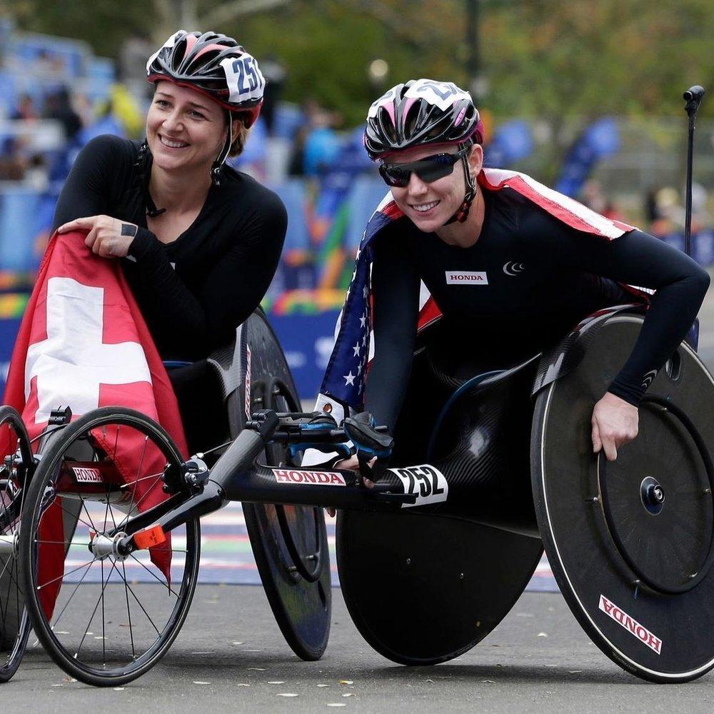 NYC Marathon - 1. Manuela Schar (1:48:09)2. Tatyana McFadden (1:51:02)3. Amanda McGrory (1:53:11)OFFICIAL RESULTS HERE