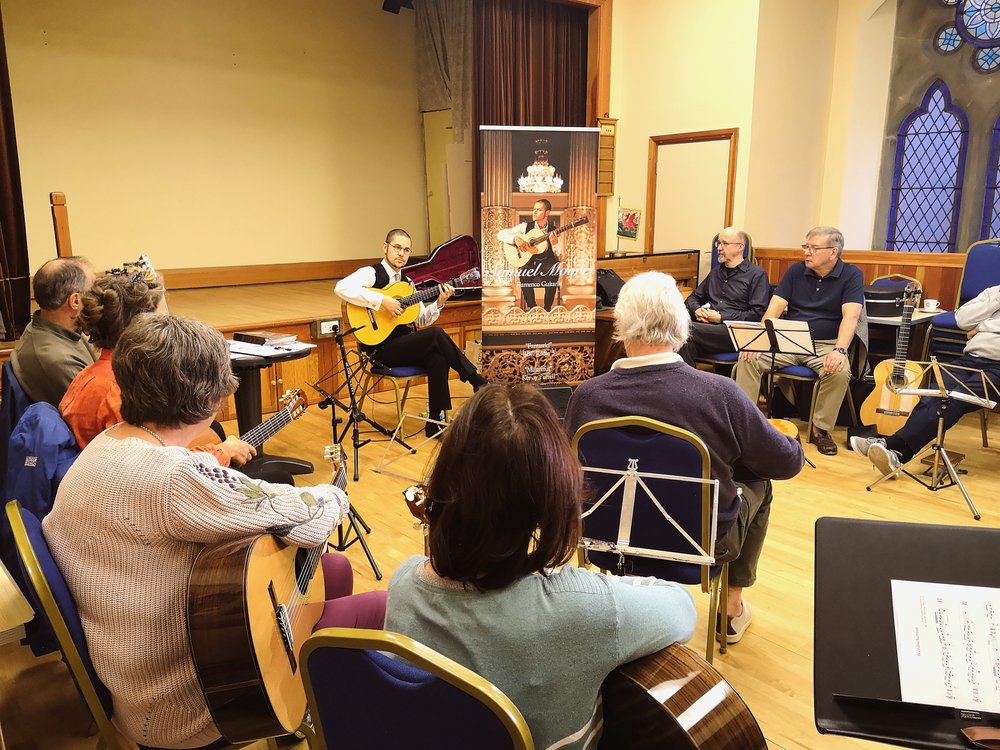 Samuel Moore running a flamenco guitar workshop for The Liverpool Guitar Society and Chester Guitar Circle on Oct 20th.