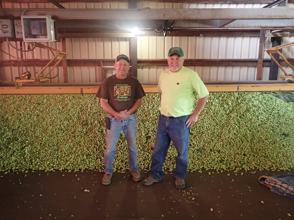 Charlie and Bill from B&C Hop Farm.