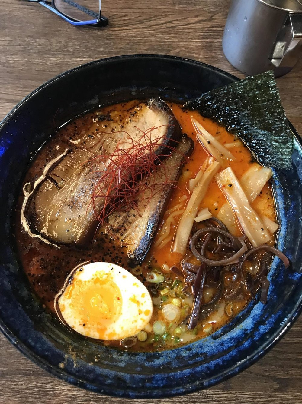 ramenhaven :     Celebrating the end of my 2.5 hour commute with a bowl from Kame Ramen, NYC