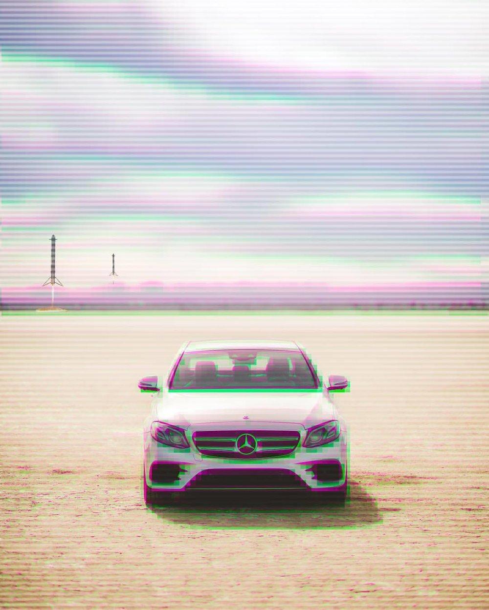 It's going to be O.K.   #mercedesbenz #e400 #elmirage #california #drylake #thefuture #scanlines #instacars #carsofinstagram #desert #sunshine #funday #😳 #🔥 #💪🏽 #🌞🌞 (at El Mirage, California)