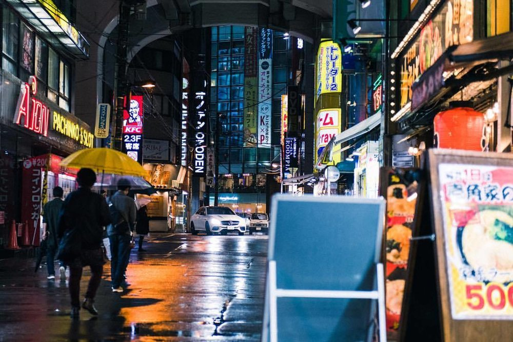 The Beast is loose in Akihabara.   .  Precision Driver @geiger7609   .  #mercedesbenz #e63 #amg #white #thebestornothing #tokyo #akihabara #nightshots #🇯🇵 #🚗💨 #nightlights #instacars #carsofinstagram #traveldiaries #travel  (at Akihabara)