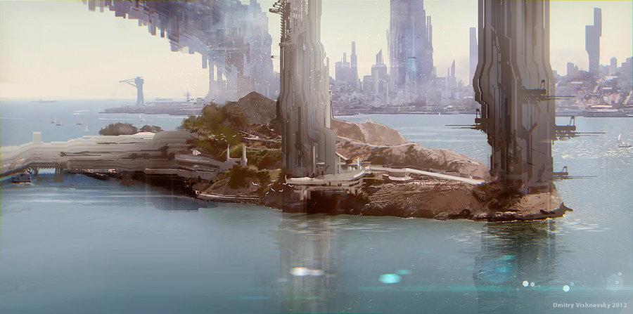 civilizationfiction :      Base on the island  by  ldimonl