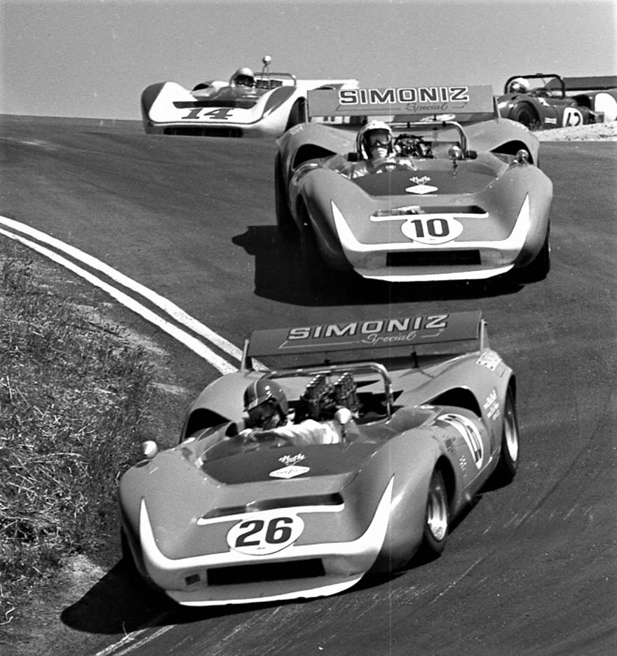 luimartins :   Skip Scott Chuck Parsons Bud Morley Can-Am Race at Laguna Seca 1968