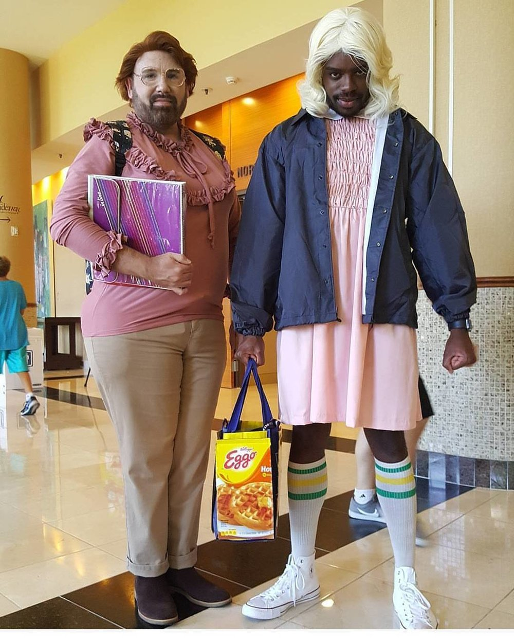 tessfowler :     Credit to @bullyart07 for finding the best Stranger Things cosplay and getting a photo.     #SDCC2017
