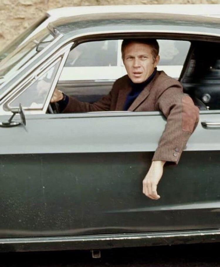 nicknascar :     Road to work with Steve McQueen