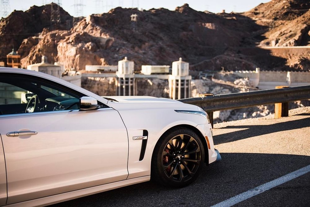 """Transform and roll out""  .  For @heldth   #cadillac #ctsv #hooverdam #🇺🇸 #nevada #clarkcounty #arizona #mohavecounty #instacars #automotivephotography #🚗💨 #sunny #☀️ #lakemead #americanmuscle  (at Hoover Dam, Nevada / Arizona State Line)"