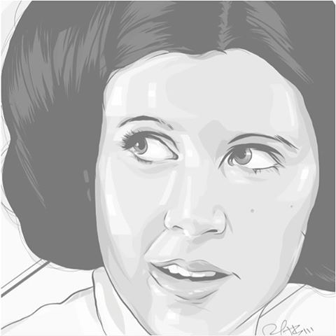 rob-zilla :   2016 continues to be the dark side of the force.   #rip #princessleia #carriefisher #starwars   #adobedraw #adobecomp #ipadproart #vectorart #makeitonmobile 😔