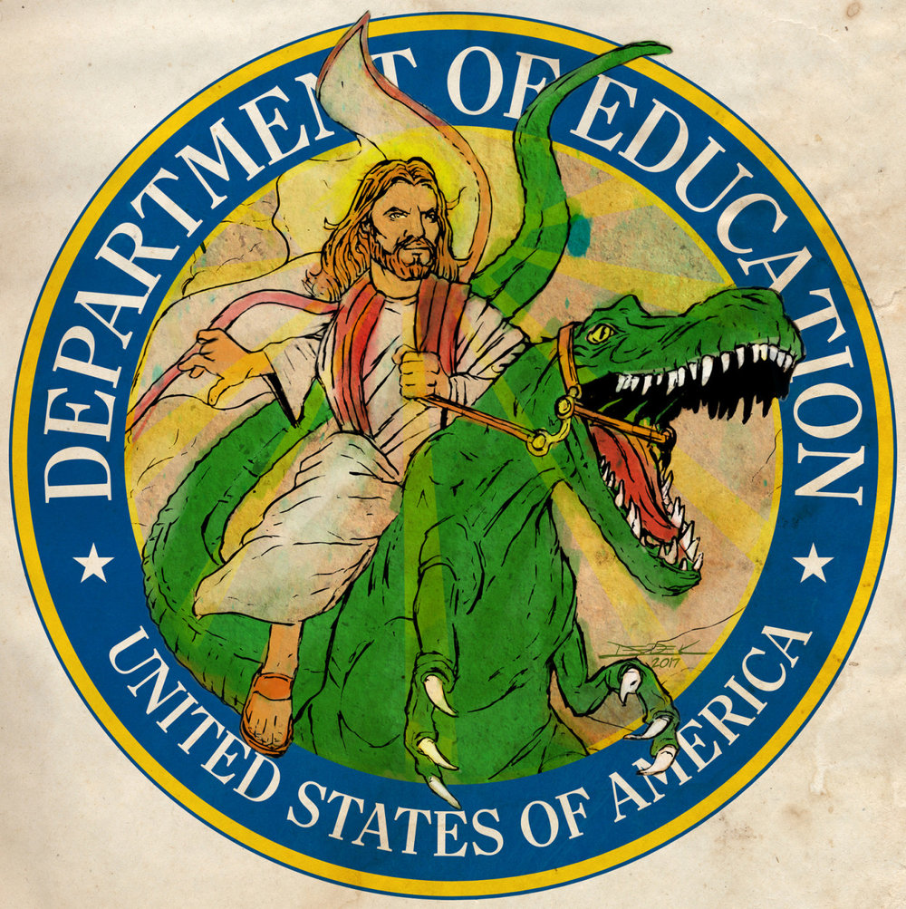 gameraboy :    New Dept of Education Logo  by  The Searcher
