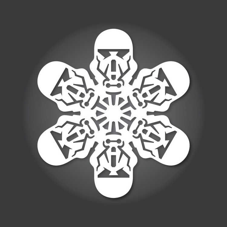 laughingsquid :      DIY 'Rogue One: A Star Wars Story' Paper Snowflake Patterns for the 2016 Christmas Season