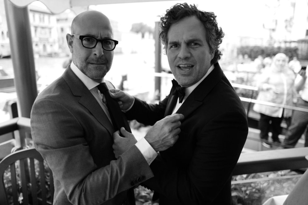 awesomepeoplehangingouttogether :     Stanley Tucci and Mark Ruffalo
