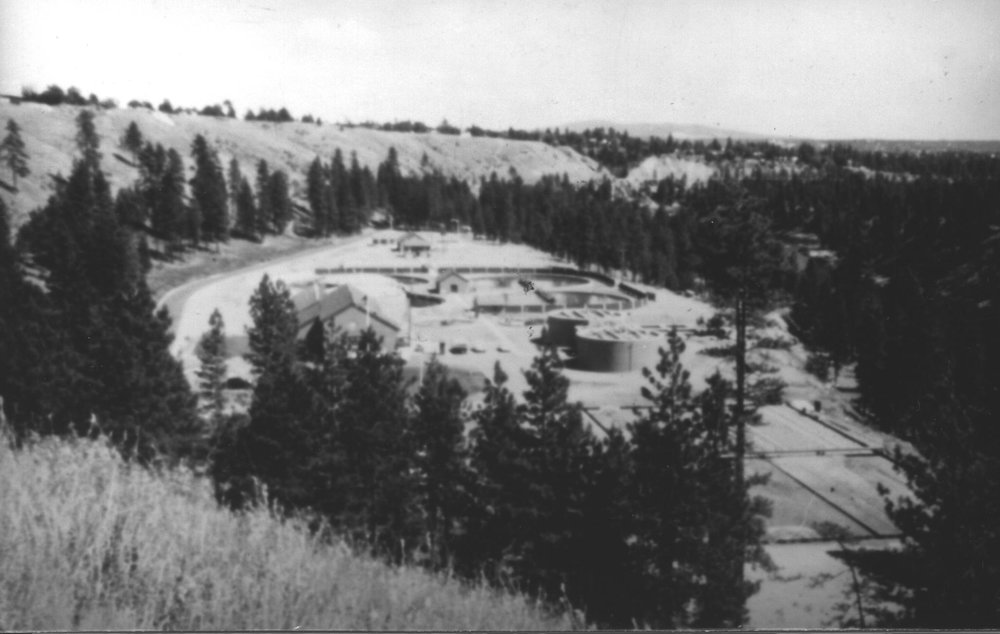 Riverside Wastewater Treatment Plant: Photo of the original wastewater treatment plant that began filtering wastewater in 1958. | Source: Photo Courtesy of the Washington State Archives - Digital Archives.