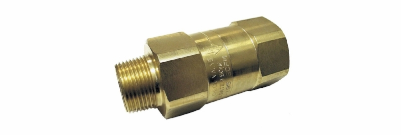 OSHA compliant air safety check valves cut off air flow when a surge in flow is detected