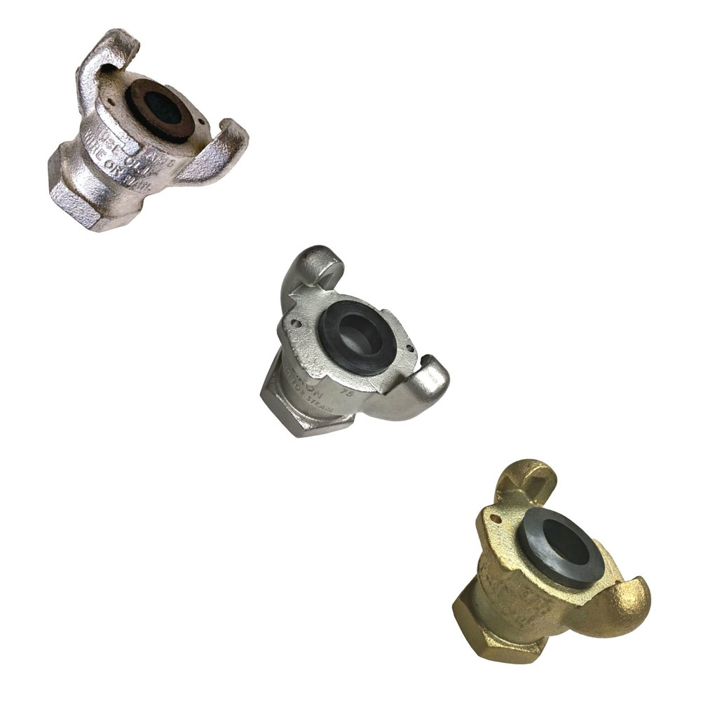 "2-Lug Chicago Hose Couplings - 1/4"" to 1"" size"
