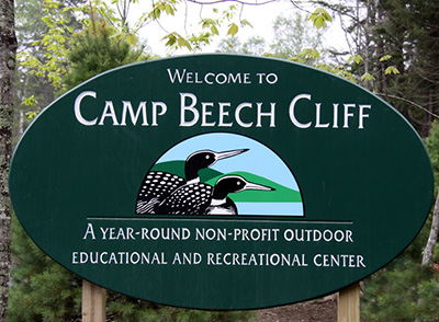Look for this sign announcing the entry into the Camp Beech Cliff Campus.