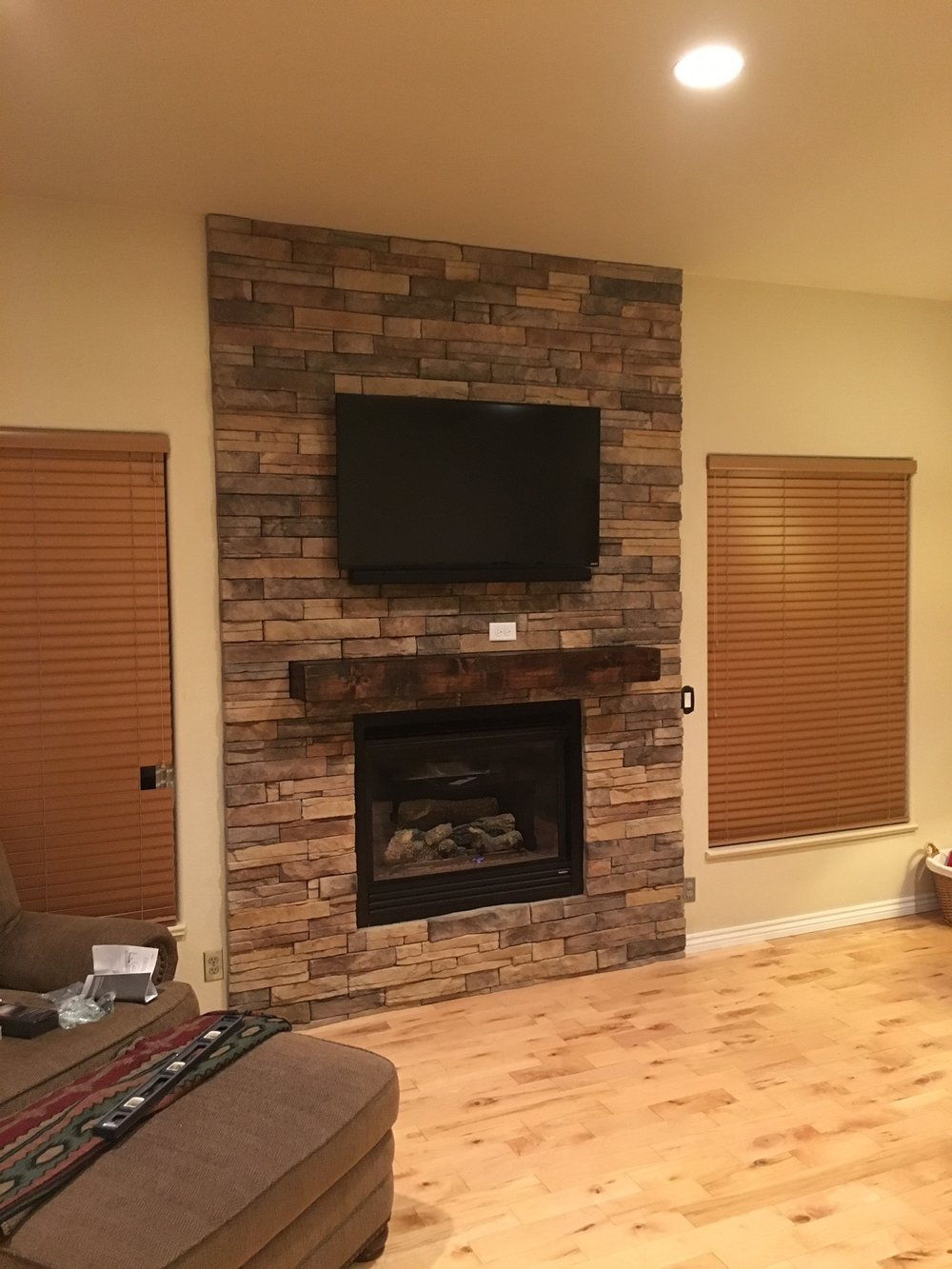 mounting misconceptions install fireplaces about tv index tx rock your fireplace three the blog dsc dallas above