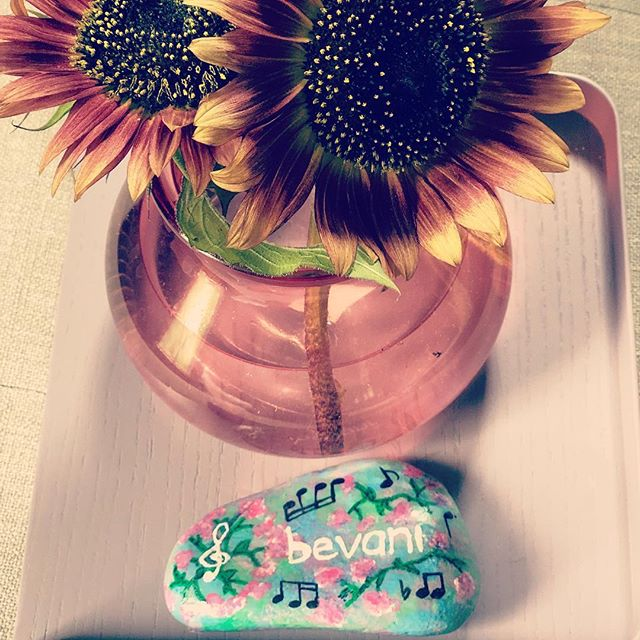 I love creativity, because it's endless!  Look at this beautifully painted rock from my student @jessieloveslucie Thank you for the gift 🎶🙏 #happyweekend . . . . . . . . . #music #flute #soprano #brannen #silver #photographer #minneapolis #picoftheday #musician #flutist #musiclife #musicien #musicienne #fluteteacher #fluteplayer #altoflute #yamaha #oboe #clarinet #violin #woodwind #bevani  #nativeamericanflute