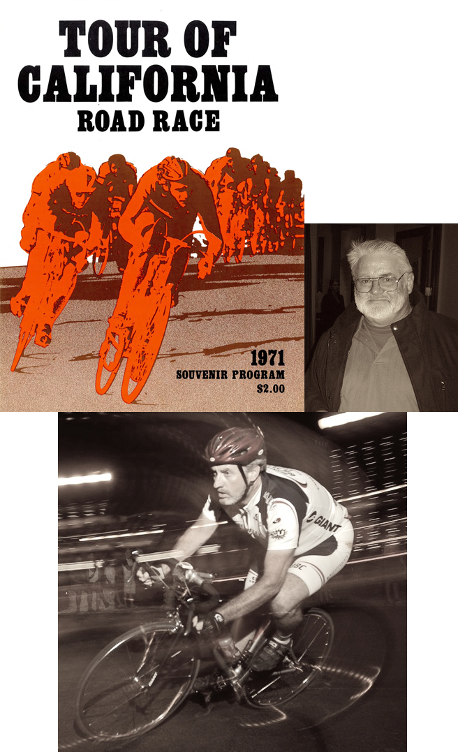 Clockwise: 1) 1971 Tour of California Guide 2) Peter Rich, BBC founder 3) Mark Walsh