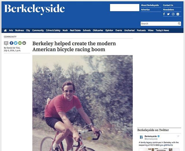 "Great feature on cycling in Berkeley. They mention the Berkeley Bicycle Club and Berkeley Hills Road Race. #cycling #racing #bicycle  If any single city can be credited with spawning the modern bicycle-racing boom that gave us Greg LeMond, Lance Armstrong and the weekend throngs of ""Middle-Aged Men in Lycra,"" it just might be Berkeley  http://www.berkeleyside.com/2018/07/05/berkeley-helped-create-the-modern-american-bicycle-racing-boom"