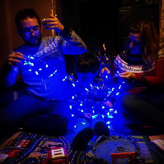 Hutton house staff Christmas party #fairylights #party
