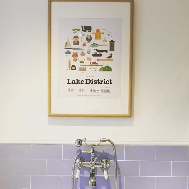 Brilliant print by @philbunting from #keswickgeneralstore - everyone likes something to read in bathroom, don't they?