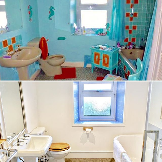 Before and after #refurbish #renovation #orangetoiletseat