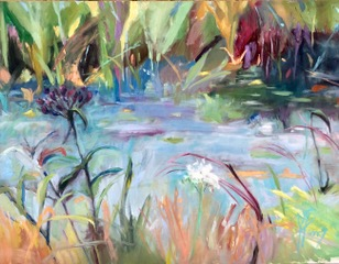 Browns Pond 2; 30X40 oil on wood; $1400: SOLD