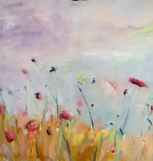 "Soft Wind 30""X30"" oil  on canvas $900 SOLD"