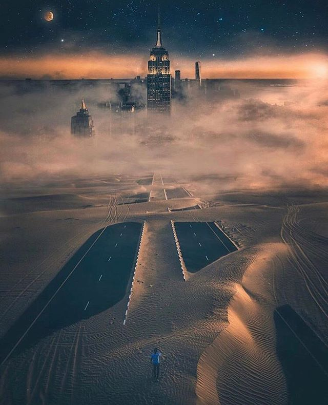 Chaos helps growth so I remove the buffer/  When the road splits in two, never take one or the other/  Because the treasures undiscovered, always lie under/  The sand in the desert where footsteps get covered/  Photo Cred: @yantastic @thelightninja Via: @enter.imagination  NewSingleOut!! - BLACK CAT -  in Bio
