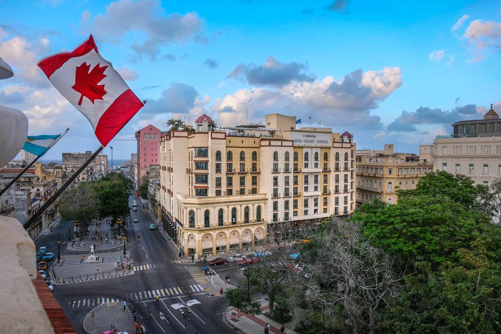 Canadian flag flying in Cuba