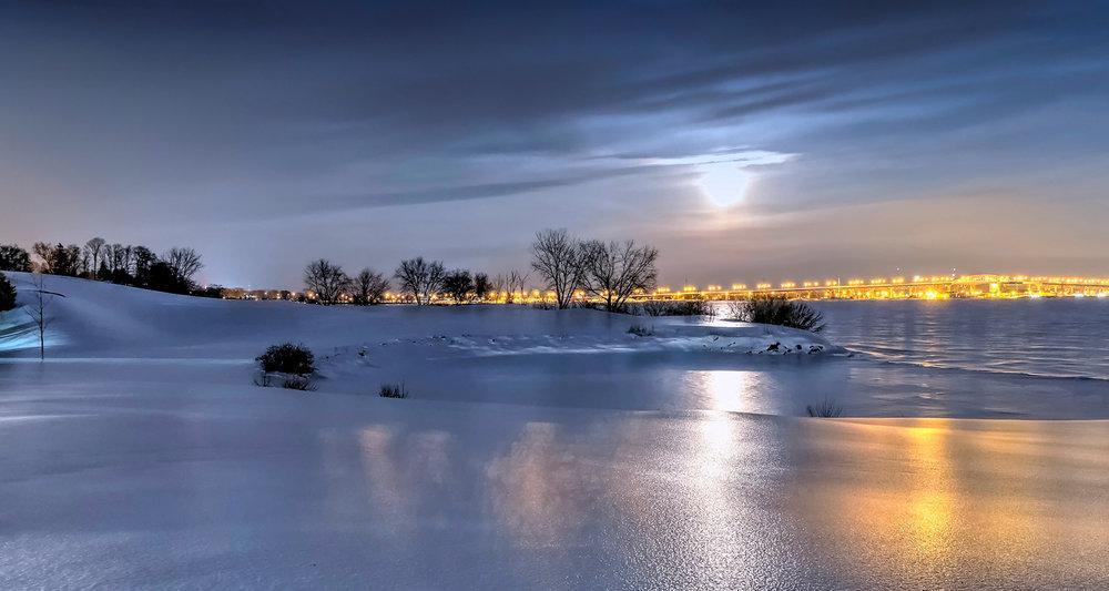 Burlington during an ice storm