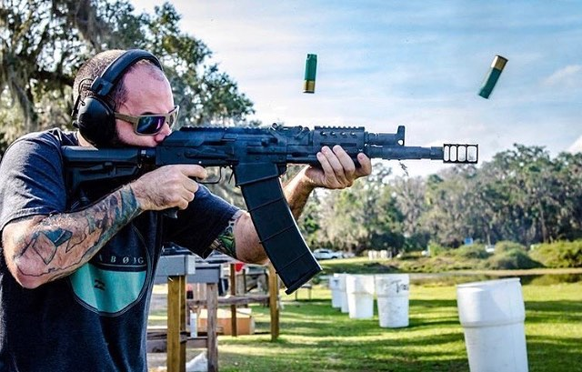 @oilburner taming the beast!!! #fullauto #vepr12  #Repost @just.lesley with @get_repost ・・・ @oilburner running the FA VEPR 12. This gun is so much fun, thanks to @cwgunwerks' wizardry and the @jmaccustoms RRD-4C 12 brake. 👊😅 • #cwgunwerks #jmaccustoms #rangeday #gunlife #vepr12 #guns #2a #nfafanatics #kalashnikov #akfanatics