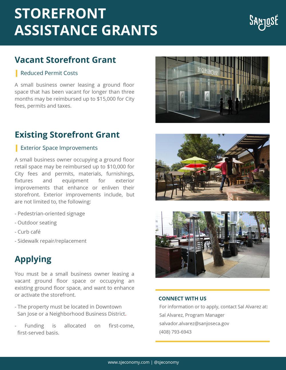 SJ Storefront Assistance Grants