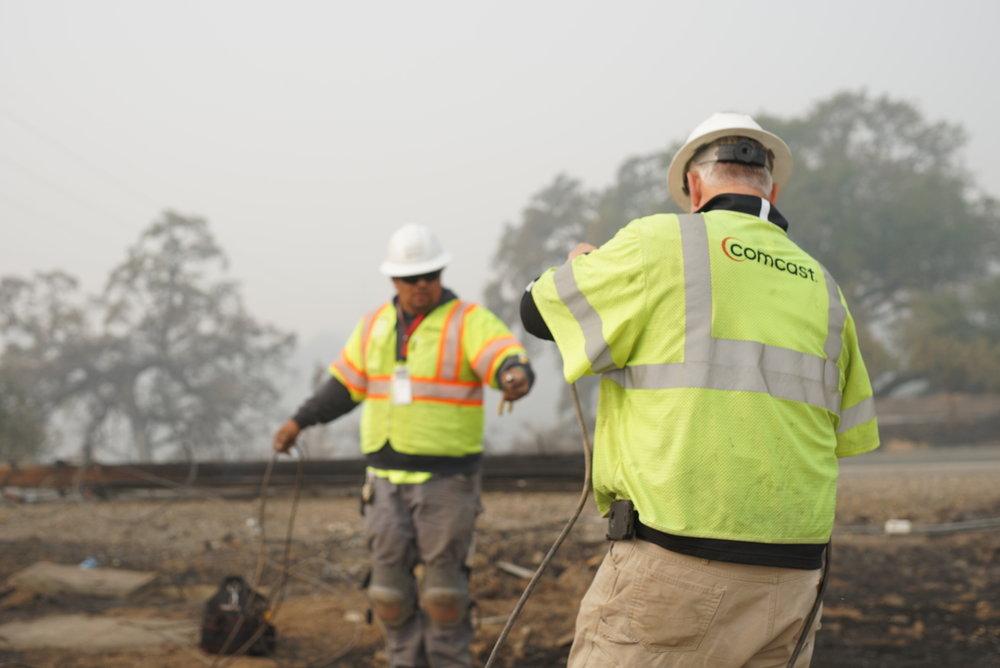 Comcast Camp Fire Response