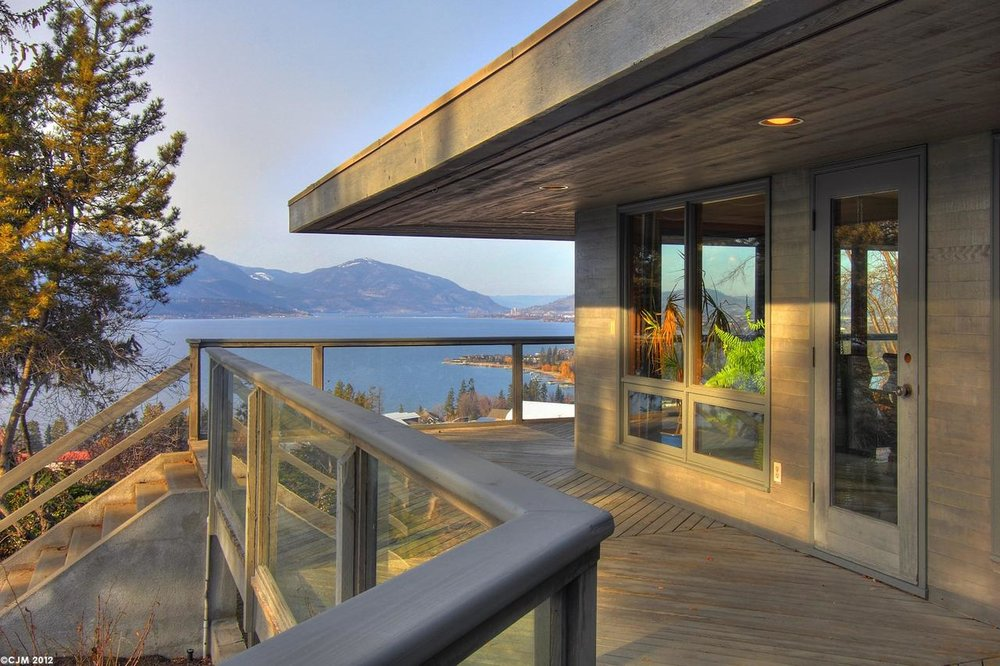 Large Decks overlooking Okanagan Lake