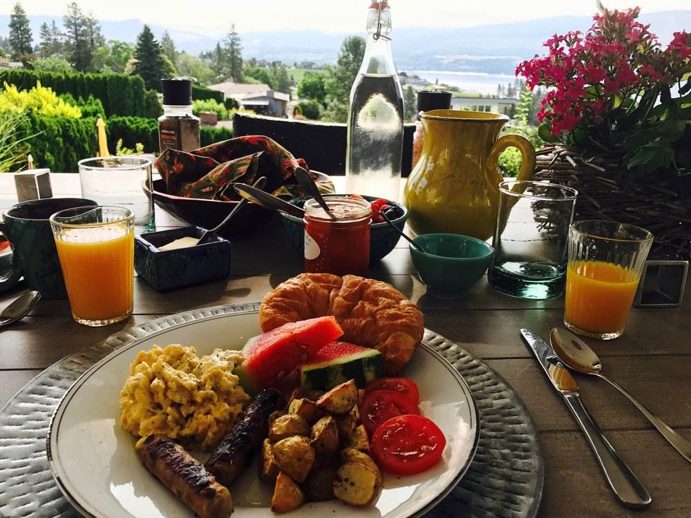 Full Gourmet Breakfasts served on the Patio